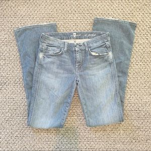 7 For All Mankind A Pocket Boot Cut Jeans 27